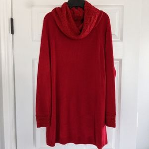 White Stag Cowl Neck Red Sweater